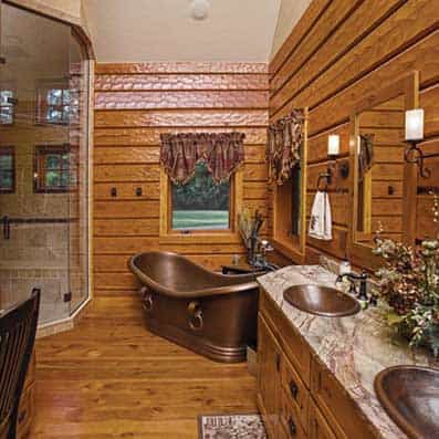 Hybrid Log and Timber Frame Bathroom 2