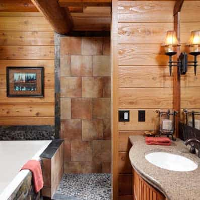 Milled Log Bathroom 4