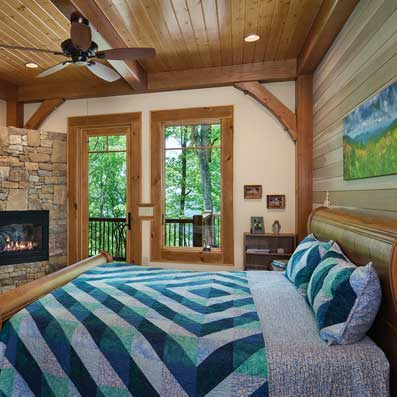 timber master bedroom