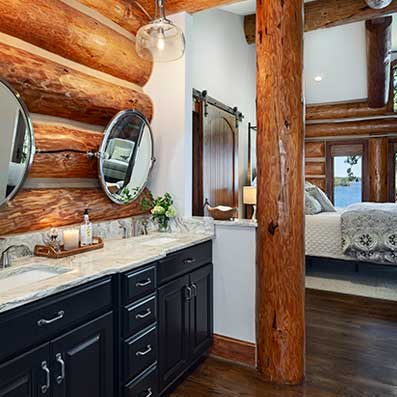 handcrafted master bathroom