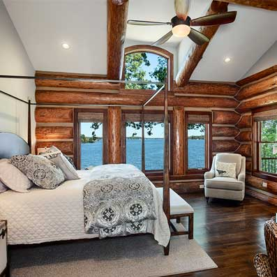 handcrafted master bedroom
