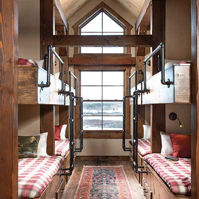timber cabin bunk room