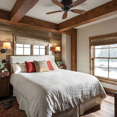 timber cabin Master suite