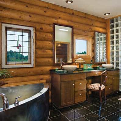 Milled Log Bathroom 8