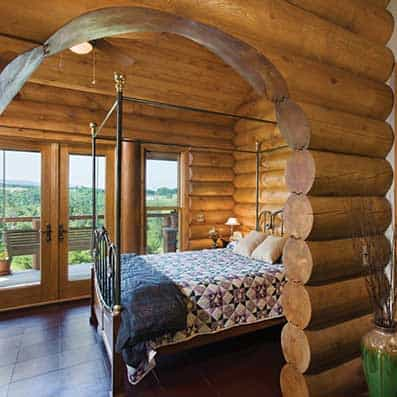 Milled Log Bedroom 8
