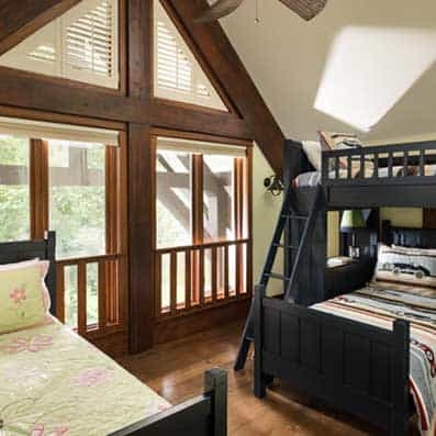 Timber Frame Bunk Room