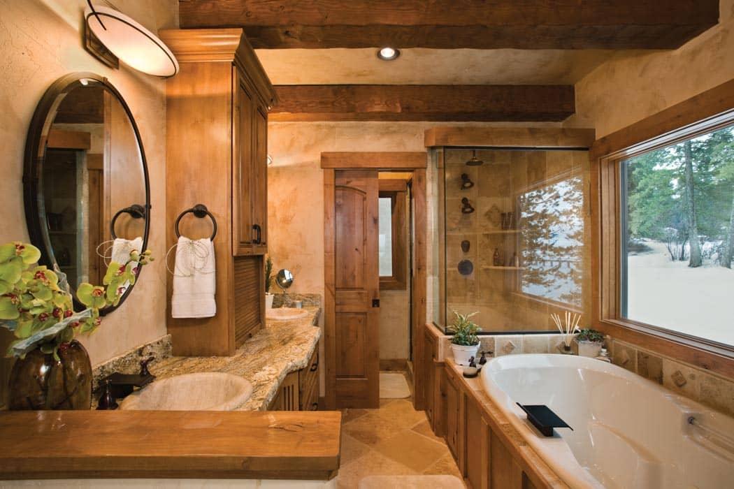 Master bedroom with bathroom floor plans