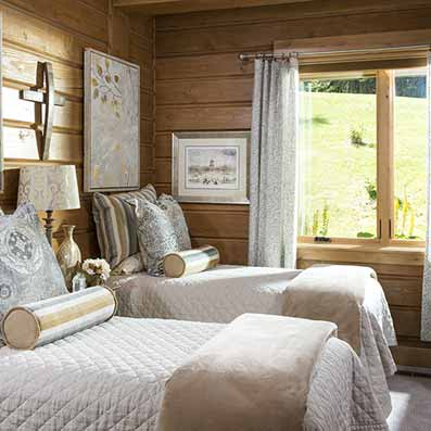 Hybrid Log & Timber guest Bedroom