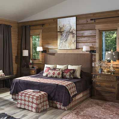 Hybrid Log & Timber Master Bedroom