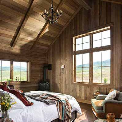 Timber Frame Bedroom