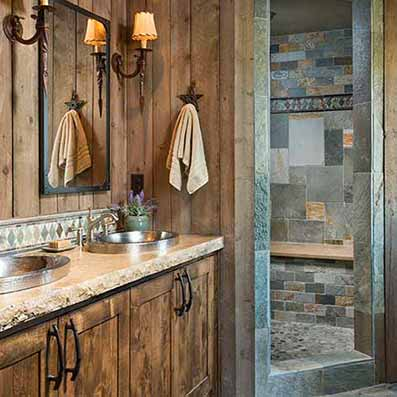 Timber Frame Master Bath