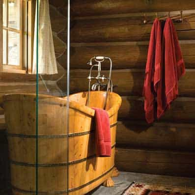 Handcrafted Log Bathroom 4