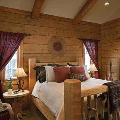 Hybrid Log and Timber Bedroom 4