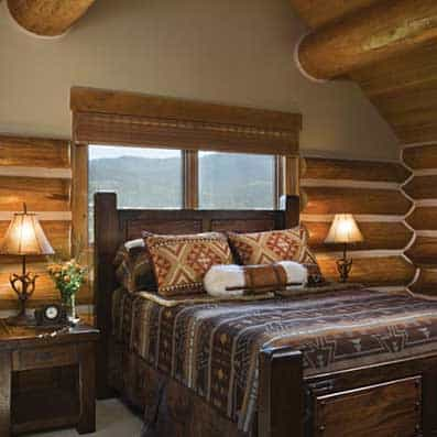 Handcrafted Log Bedroom 5