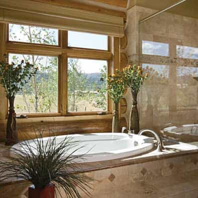 Handcrafted Log Bathroom 5
