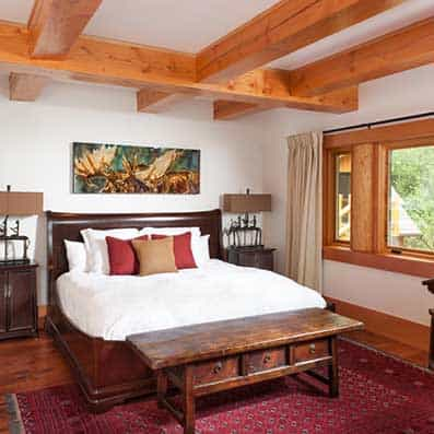 Hybrid Log Post and Beam Bedroom 2