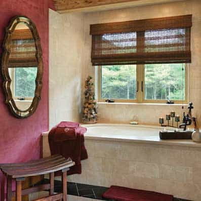 Milled Log Home Bathroom 11
