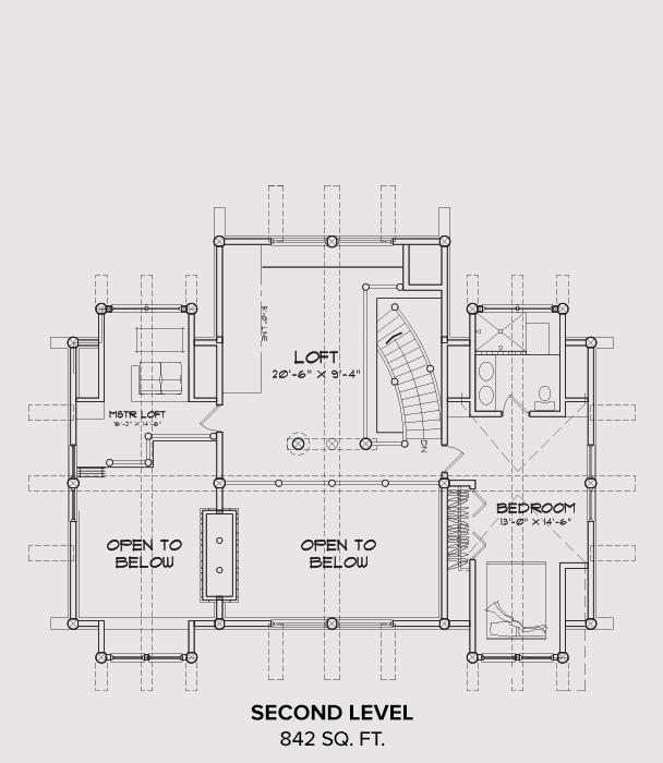 Blue Ridge Second Floor Plan