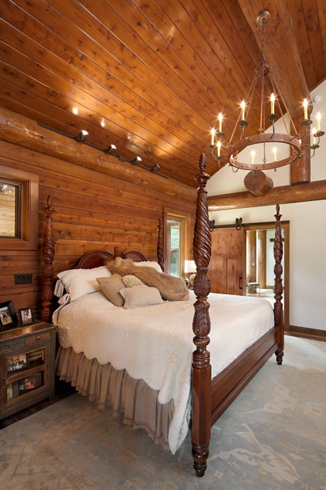 handcrafted loghome bedroom