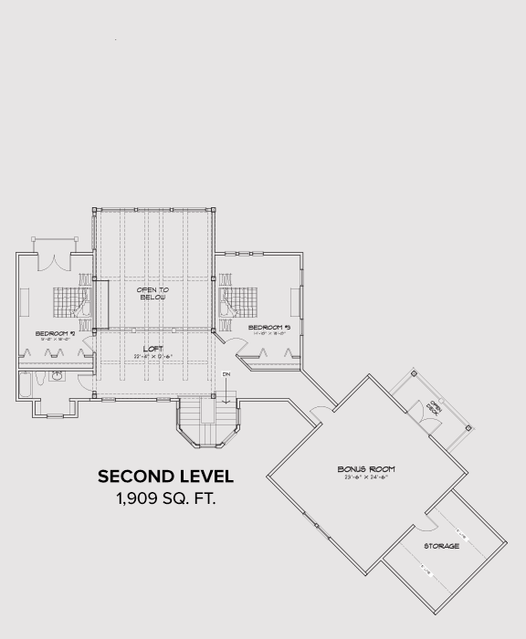 Branchville Second Floor Plan