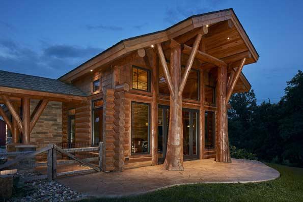 Iowa Log Home Residence