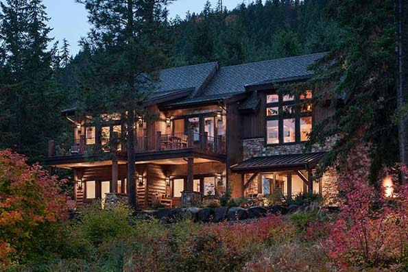 Washington log and timber frame homes by precisioncraft for Pnw home builders