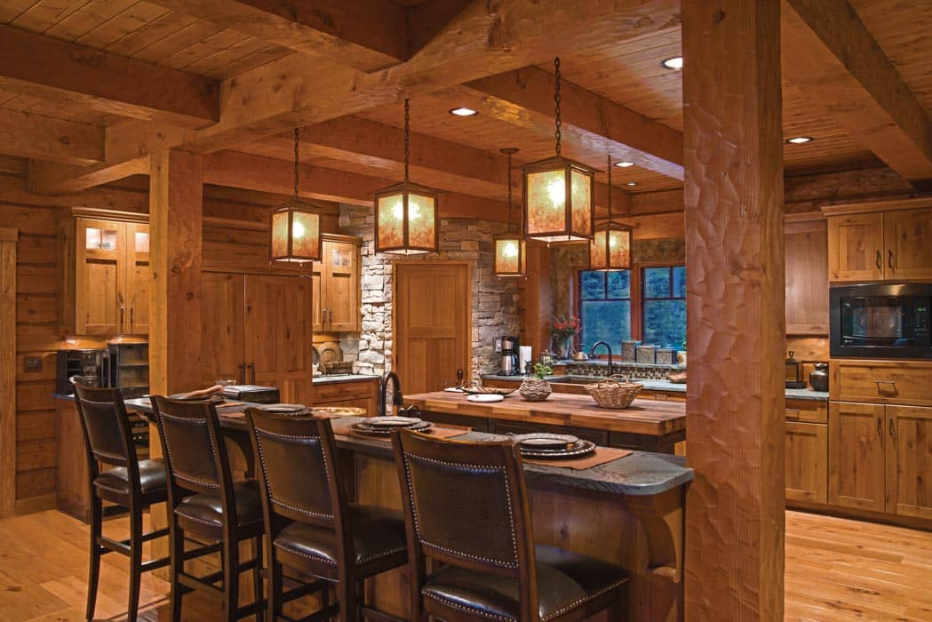 Eagle River Wisconsin Hybrid Log Home By Precisioncraft