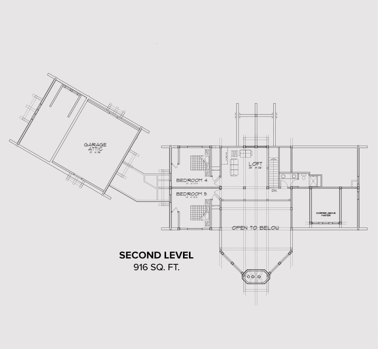 Eagle River Second Floor Plan