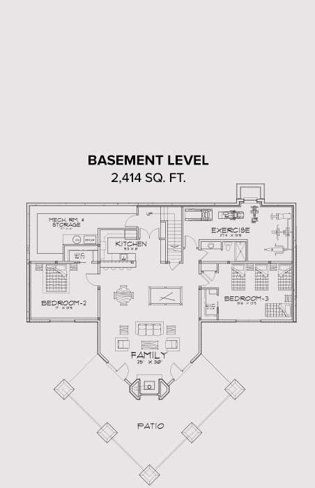 Eagle River Basement Floor Plan