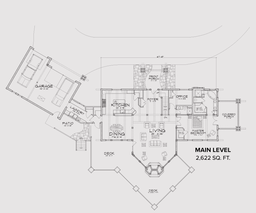 Eagle River Main Floor Plan