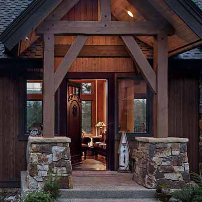 Timber entryway