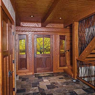 Hybrid Log and Timber Foyer 2