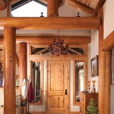 Handcrafted Log Foyer 2