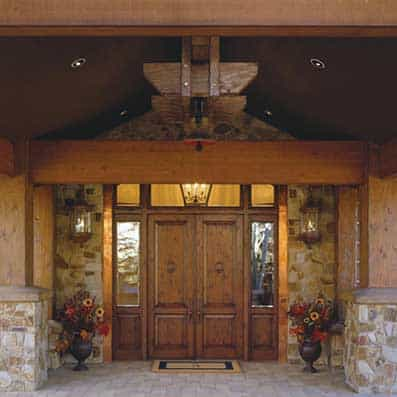 Timber Frame Entry 2