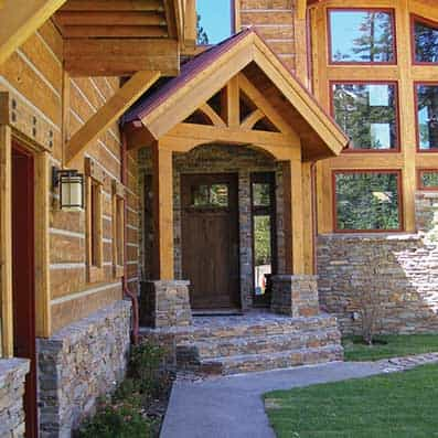 Timber Frame Entry 3