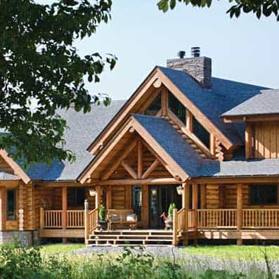 Milled Log Home Entry 3