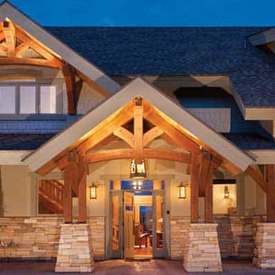 Timber Frame Entry 6