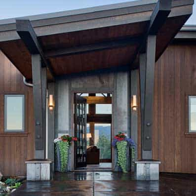 Timber Frame Entry 7