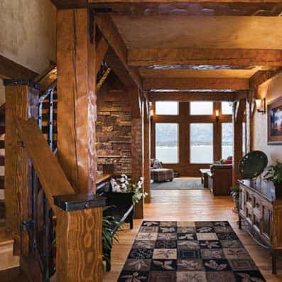 Timber Frame Foyer 8