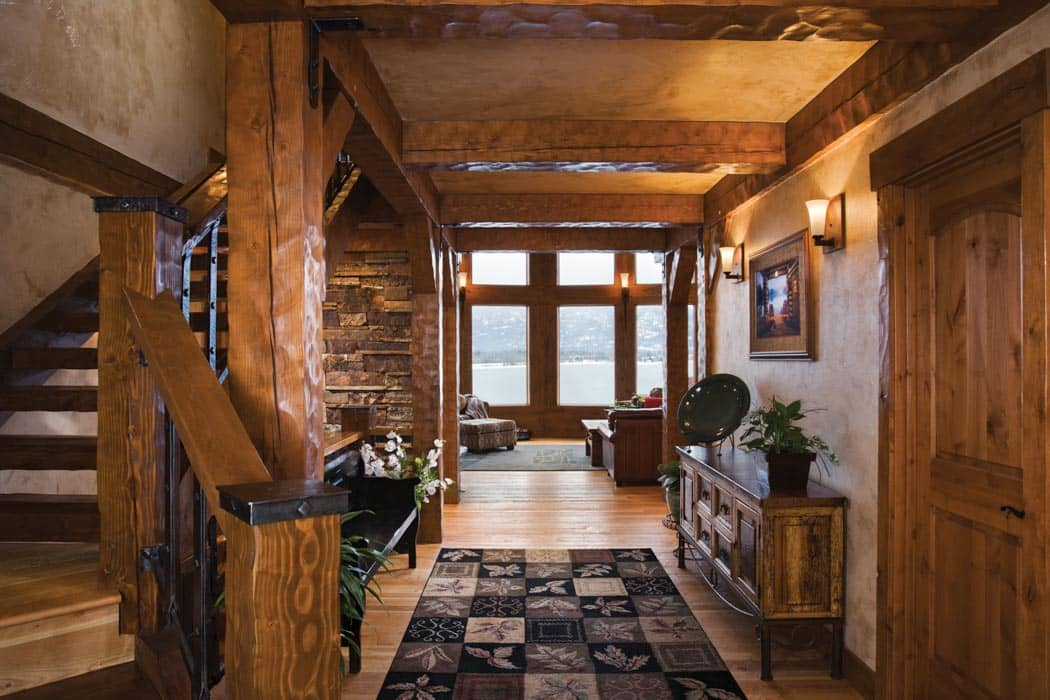Log Home Foyer : Entry and foyer photo gallery log homes timber