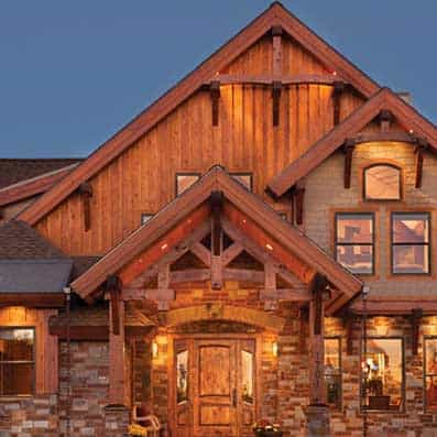 Timber Frame Entry 9