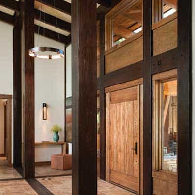 Timber Frame Foyer 10