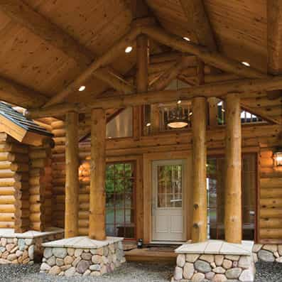 Milled Log Home Entry 9