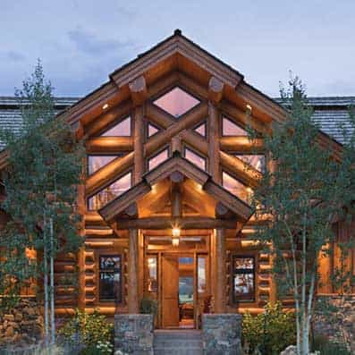 Handcrafted Log Home Entry 5