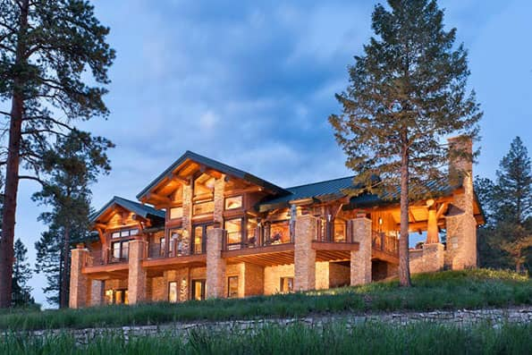 Colorado log and timber frame homes by precisioncraft for Colorado log home plans