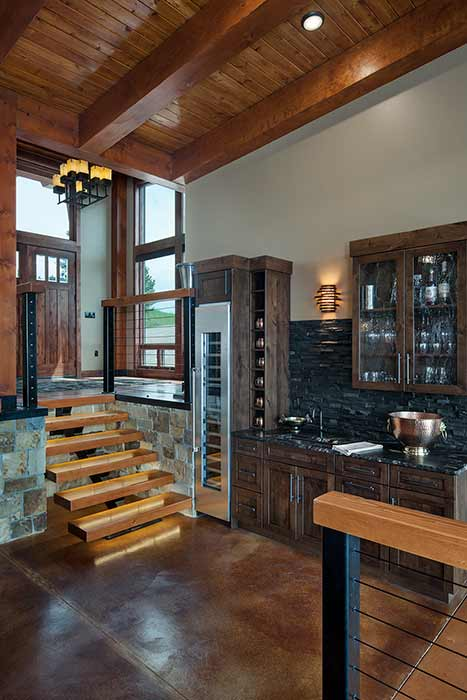 Georgetown Lake kitchen entry