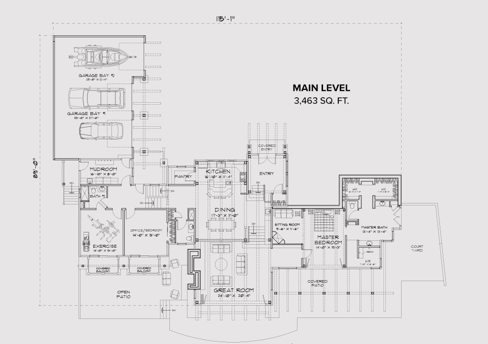 Georgetown Lake main floor plan