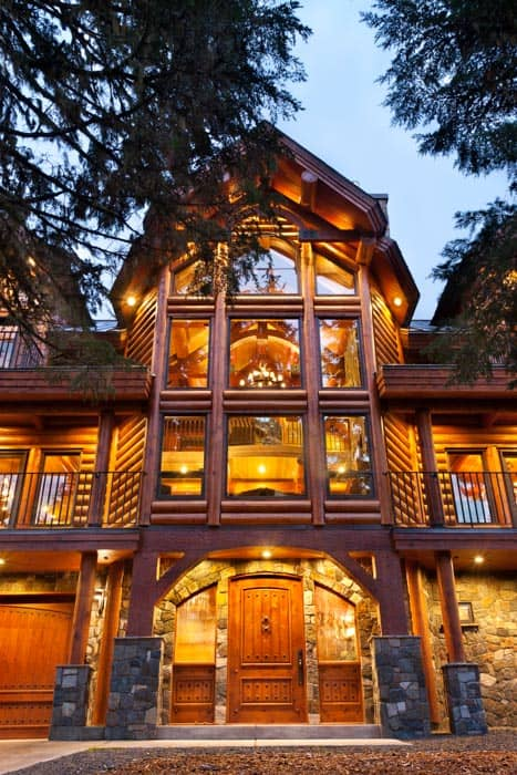Mt Hood Oregon Log Home By Precisioncraft