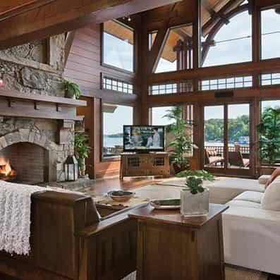 Hybrid Log & Timber Great Room