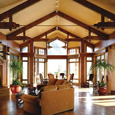 Timber Frame Great Room 9